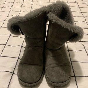 Grey UGG Bailey Button II Shearling Boots